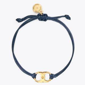 """Tory Burch navy blue """"embrace ambition"""" bracelet"""